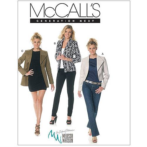 McCall's Pattern Misses' Lined Jackets in 3 Lengths, DD (12, 14, 16, 18)