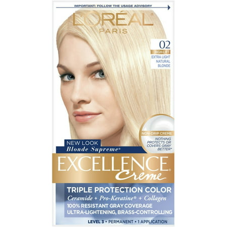 2 Pack - L'Oreal Excellence Creme Blonde Supreme - 02 Extra Light Natural Blonde (Natural) 1