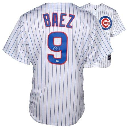 purchase cheap bc263 3039c Javier Baez Chicago Cubs Fanatics Authentic Autographed Majestic Replica  White Jersey - No Size
