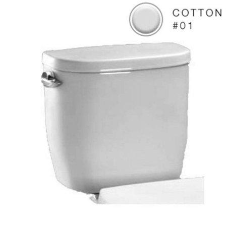 TOTO Entrada E-Max 1.28 GPF Toilet Tank, Cotton White - ST243E#01