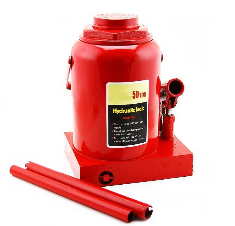 """GHP 50-Ton Capacity 6-5/16"""" Lifting Height Rugged Steel Hydraulic Bottle Jack Lift"""