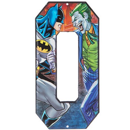 Batman vs Joker Superhero Letter O Metal Sign Home Decoration Wall Art Media Room Man Cave](Joker Decorations)