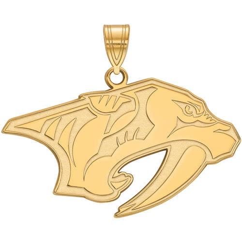 LogoArt NHL Nashville Predators 14kt Gold-Plated Sterling Silver Large Pendant