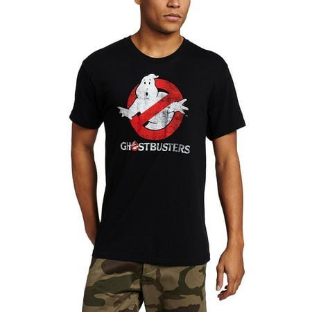 Ghostbusters Faded Logo To Go Adult Black T-Shirt