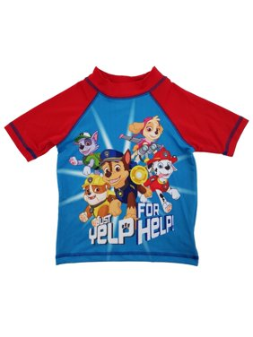 981be5da32a Product Image Paw Patrol Just Yelp For Help! Toddler Boys Blue Red Rash  Guard Swim Shirt