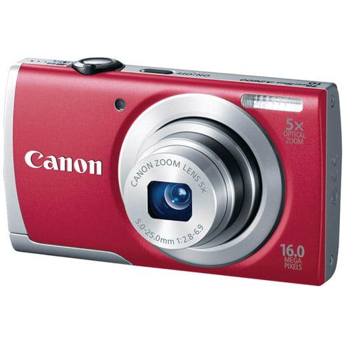 CANON 8159B001 16.0 Megapixel PowerShot(R) A2600 Digital Camera (Red)