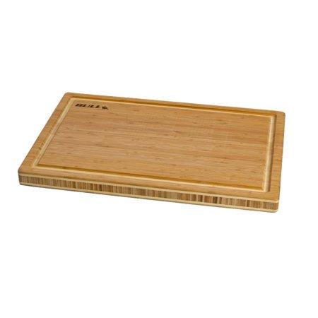 Galvanized Cutting Table (Bull Bamboo Wood Cutting Board & End Grain Butcher Chopping Block Table)