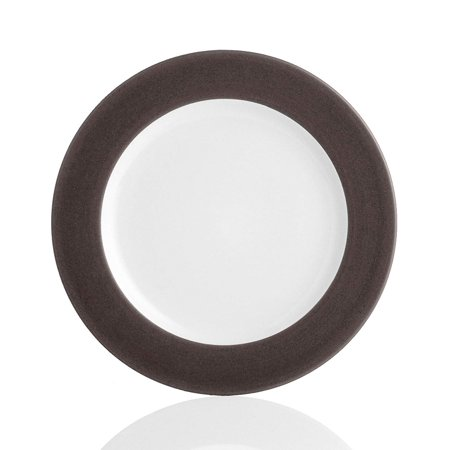 Colorwave Rim Dinner Plate, Chocolate, Noritake Colorwave Chocolate Rim Dinner Plate By -