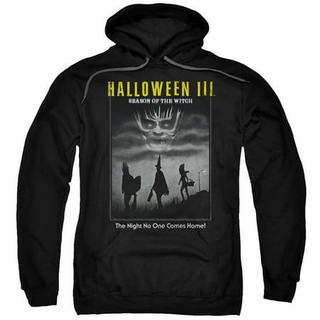 HALLOWEEN III/KIDS POSTER-ADULT PULL-OVER HOODIE-BLACK-LG - Halloween Cancelled