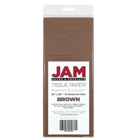 JAM Paper Tissue Paper, Brown, 10 -