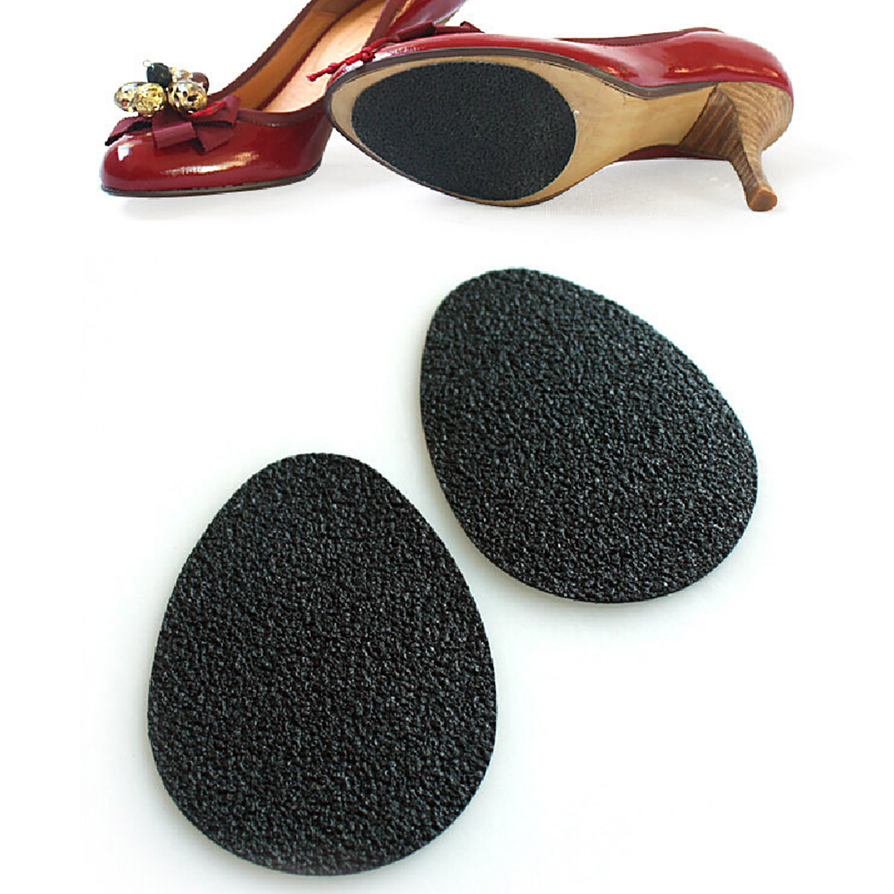 SELF ADHESIVE NON SLIP SHOE PAD GRIP HEELS BOOTS SHOES BLACK SOLE ONE PAIR