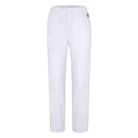 Adar Universal Natural-Rise Mock Fly Drawstring Tapered Leg Pants Petite - 501P - White - XL
