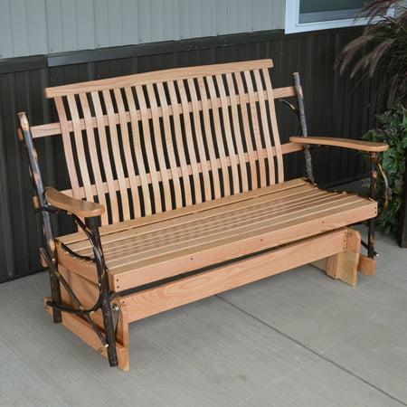 A & L Furniture Hickory Porch Glider