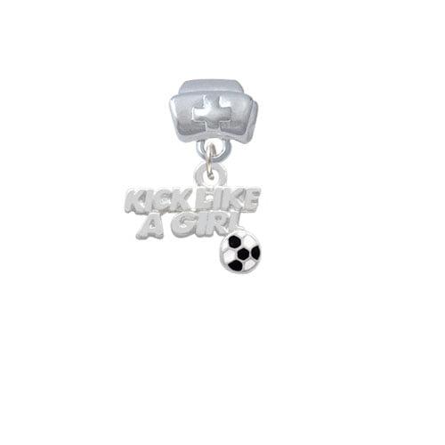 Kick Like a Girl with Enamel Soccer Ball - Nurse Hat Charm Bead