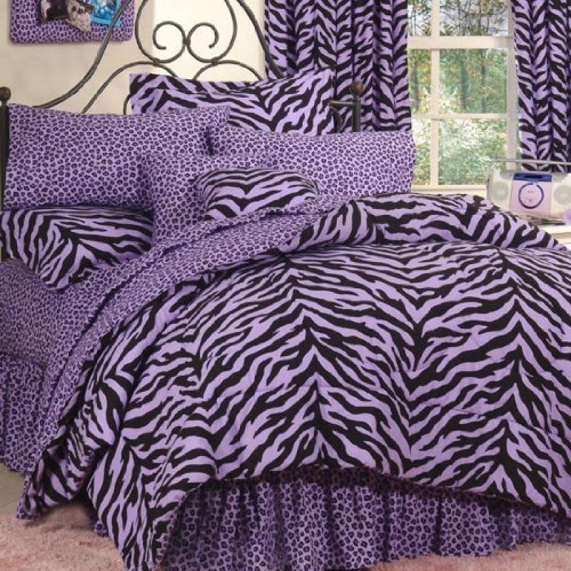Karin Maki Zebra Complete Bedding Set, Full, Lavender