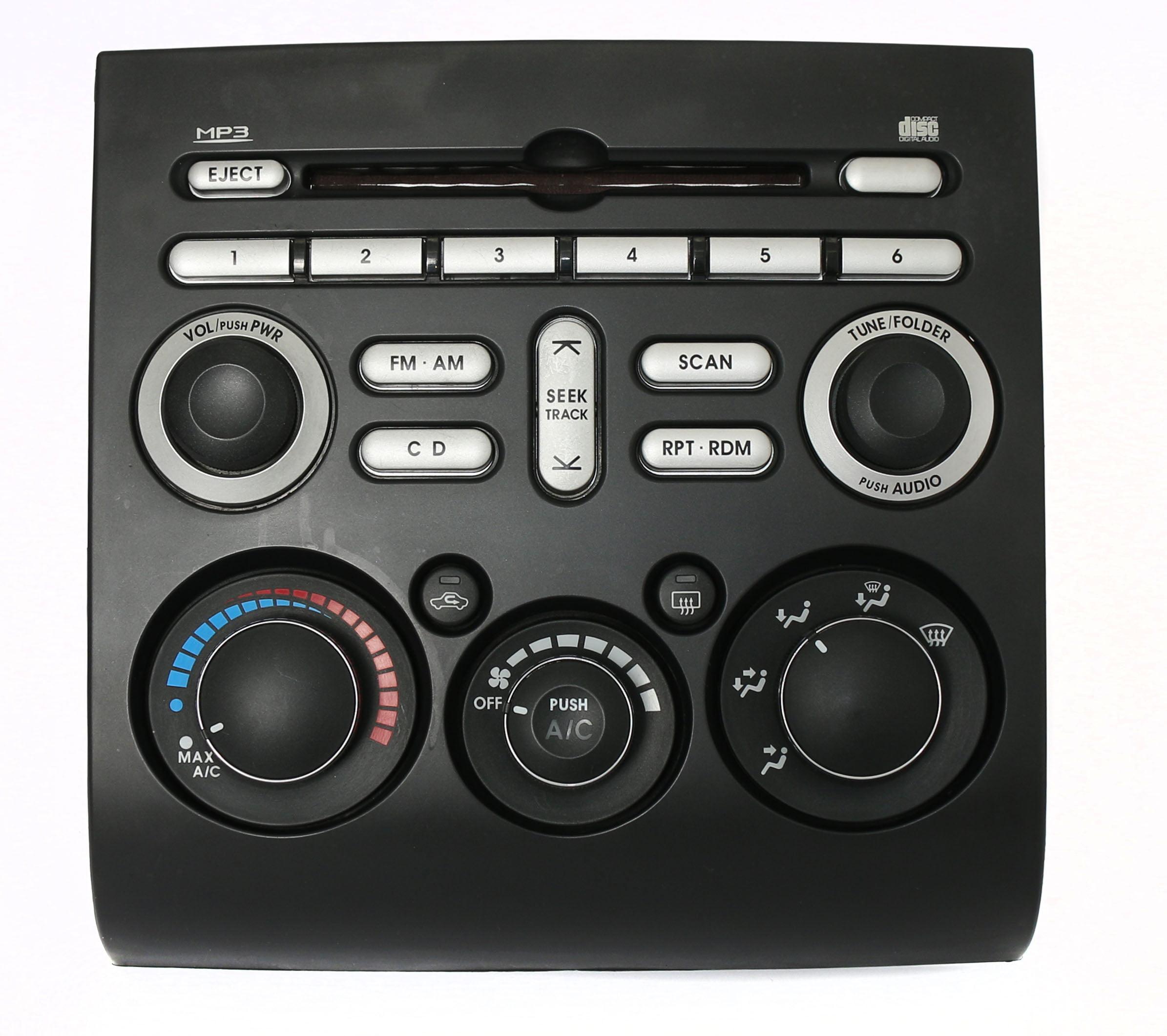 2006-2008 Mitsubishi Galant Temp Control Face Plate w CD Controls PN 8002A247HC Refurbished by Mitsubishi