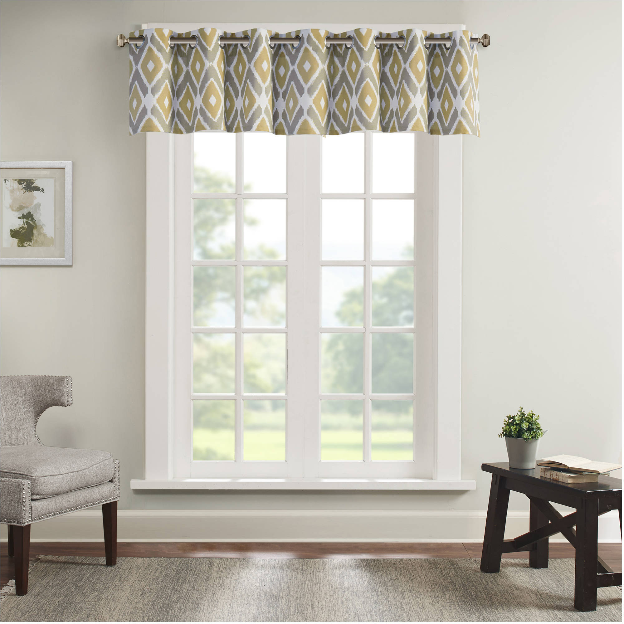 Home Essence Ender Diamond Printed Valance