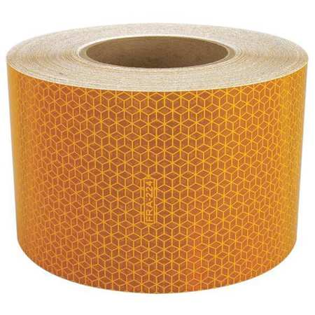 REFLEXITE 18610 Reflective Tape, W 4 In, SB Yellow