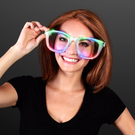 FlashingBlinkyLights Wacky Flashing Jumbo LED Sunglasses