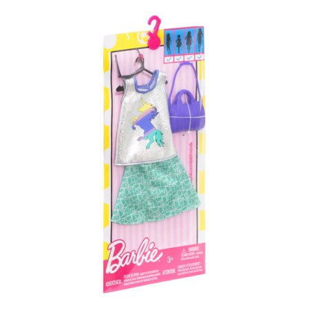 Barbie Trendy Unicorn Outfit Fashion Pack 2 Best Doll Clothes Accessories