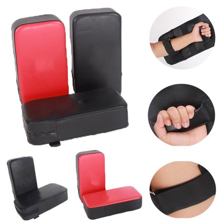 2Pcs PU Leather Kicking Target Pads Taekwondo Kick Bag Kickboxing Trainer Boxing Shield
