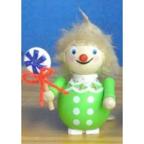 Pinnacle Peak Trading Co Steinbach Boy with Lollipop German Wooden Christmas Ornament