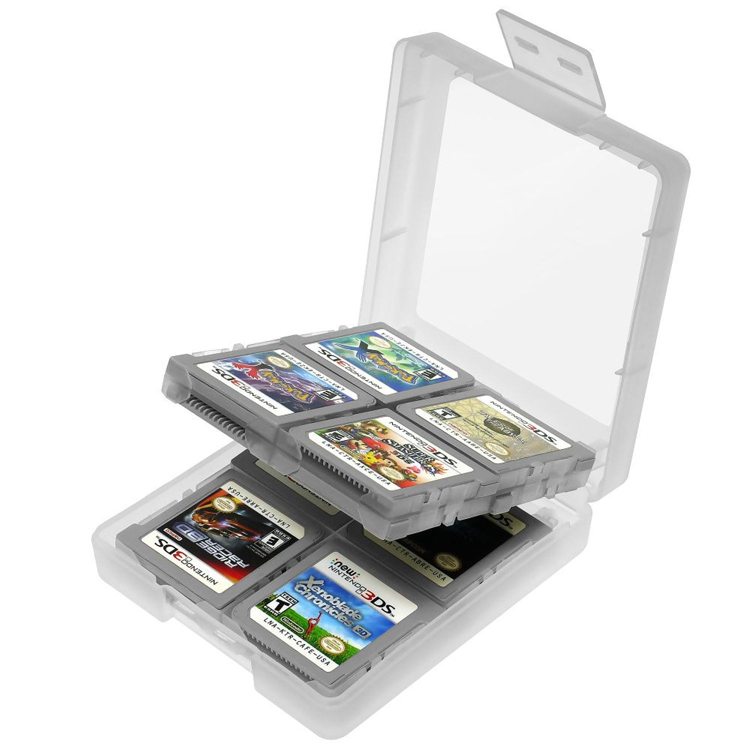 Insten Game Card Storage Case 16-in-1 For Nintendo NEW 3DS / 3DS / DS / DS Lite / DSi / DSi LL / XL - White