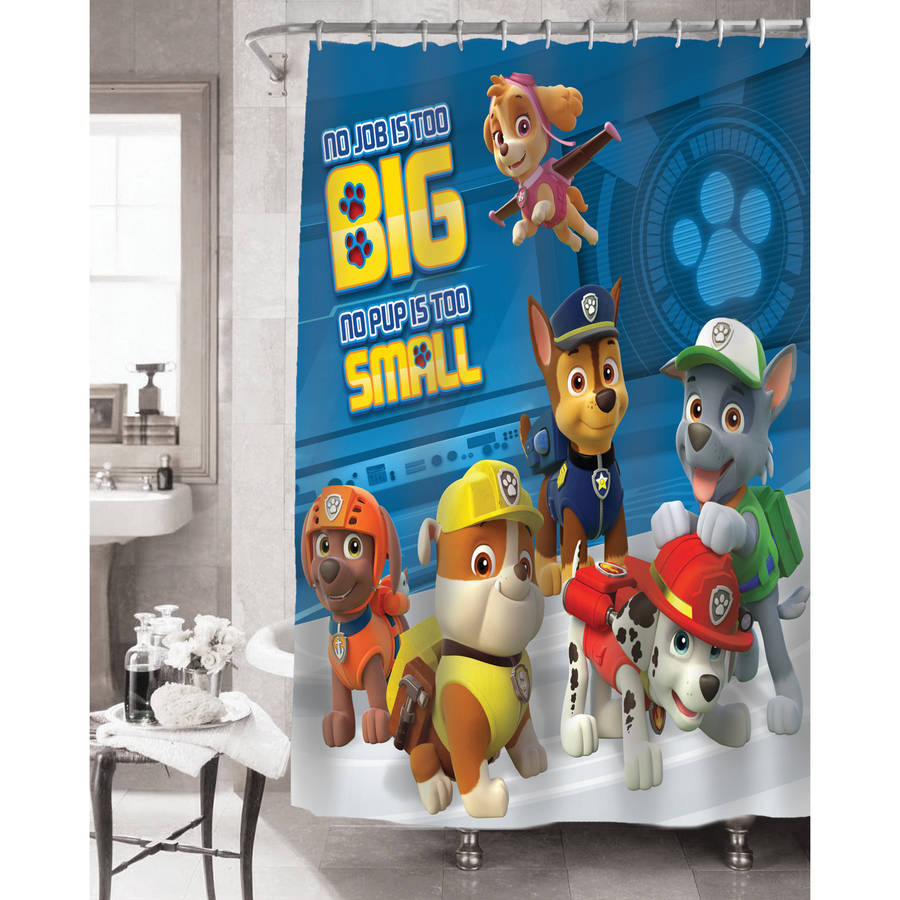 Nickelodeon Paw Patrol Rescue Crew Fabric Shower Curtain