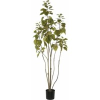 Vickerman 4' Artificial Green Potted Cotinus Coggygria Tree with 177 Leaves