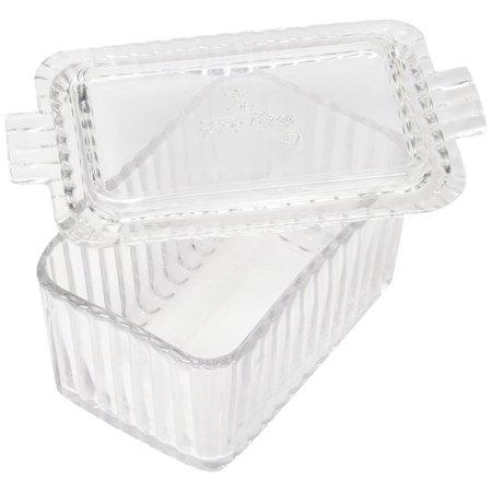 Fire-King Beveled Glass Butter Dish, Clear Beveled Glass By Anchor Hocking Anchor Hocking Fire King Milk