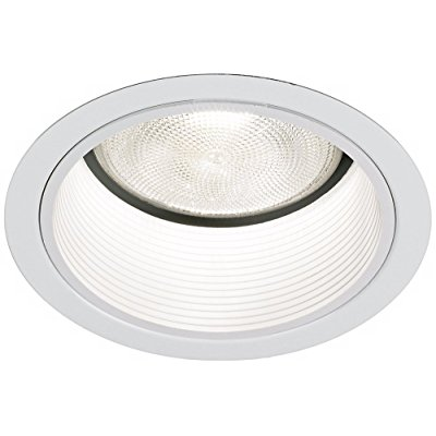 Lightolier 5 Line White Baffle Recessed Light Trim