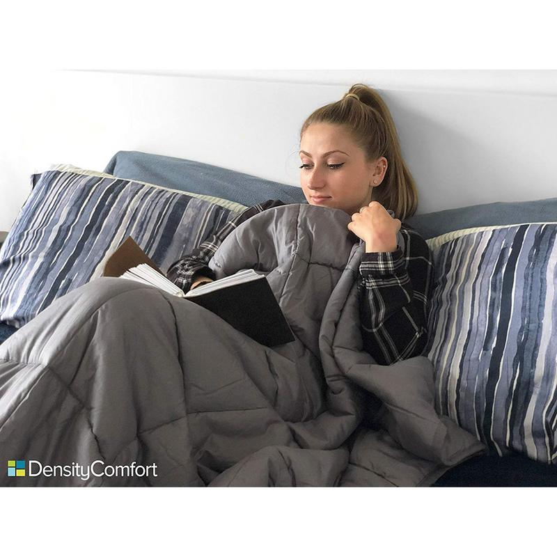 """DensityComfort 15 lb. Weighted Blanket 60x80"""" Queen Size   Helps With Anxiety, Stress, ADHD, Insomnia, Autism, OCD  """