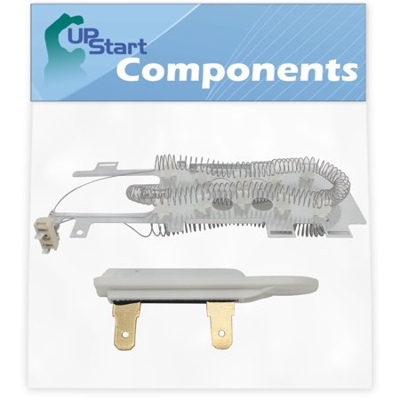 8544771 Dryer Heating Element & 3392519 Thermal Fuse Replacement for Whirlpool WED9400VE1 Dryer - Compatible with WP8544771 & WP3392519 Heater Element & Thermal Fuse Kit - UpStart Components Brand - image 1 de 4