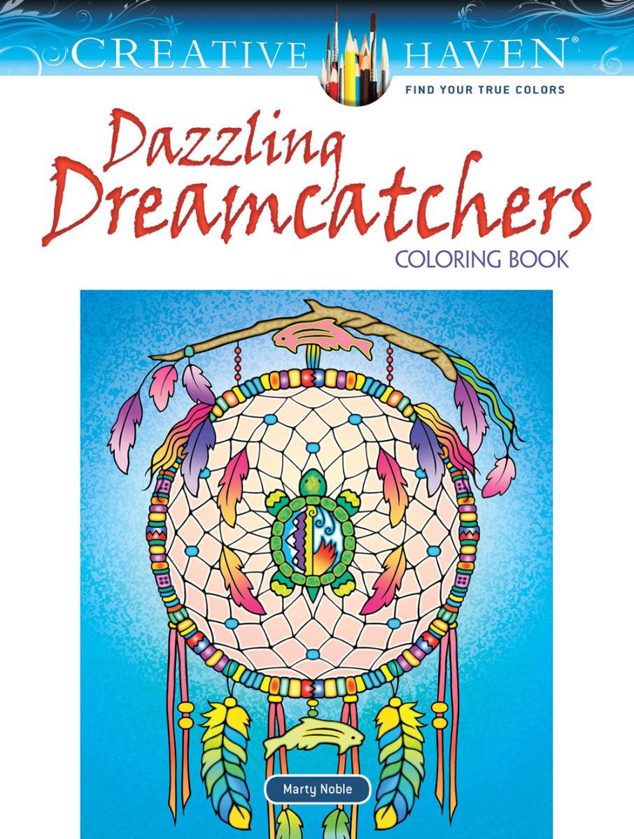 Dover Publications Dazzling Dreamcatchers Adult Coloring Book - Walmart.com  - Walmart.com