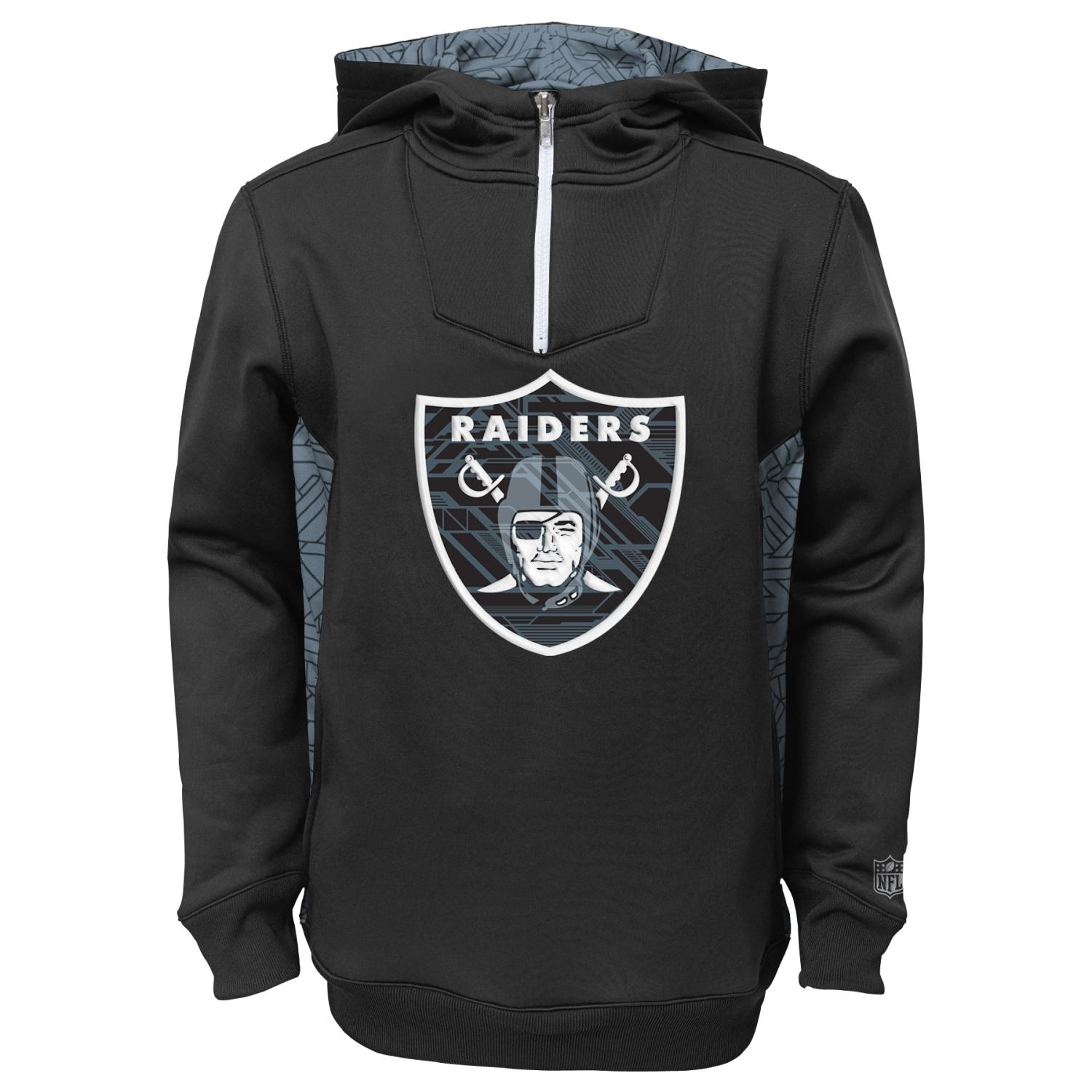 "Oakland Raiders Youth NFL ""Power Logo"" Performance Hooded Sweatshirt"