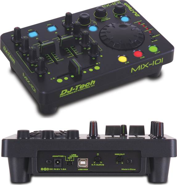 Dj Tech MIX101 All-in-one Style Usb Midi Controller W/ Deckadance Le Software