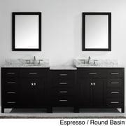 VIRTU USA  Caroline Parkway 93-inch Double-sink Bathroom Vanity Set