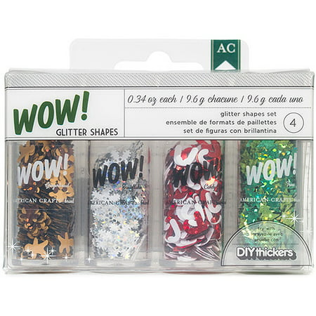 American Crafts Christmas Wow Glitter Shapes (Glitter Shapes)