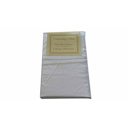 250 Thread Count 2ct Luxury Pillowcases Standard Size White