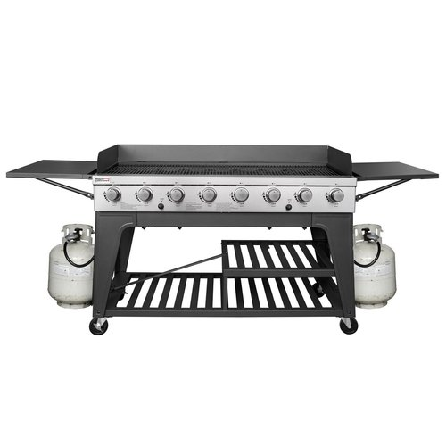 Royal Gourmet Corp 8 Burner Propane Gas Grill With Side Table