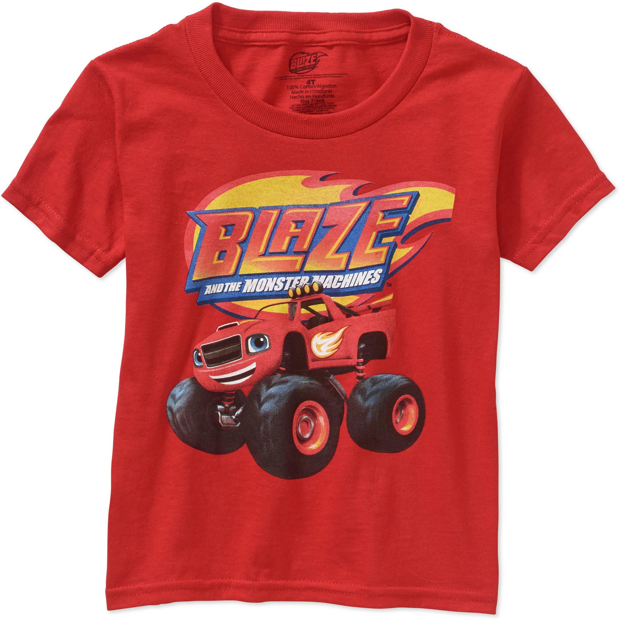 Nickelodeon Blaze The Monster Machines Toddler Boy Short Sleeve Graphic Tee