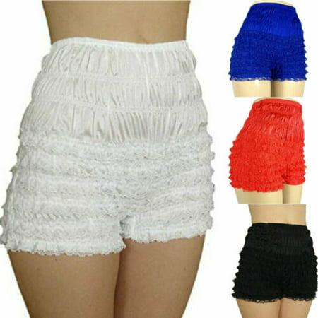 Sexy Women Girl Lace Ruffle Underwear Frilly Knicker Panties Short Pants Shorts Black Ruffled Panties