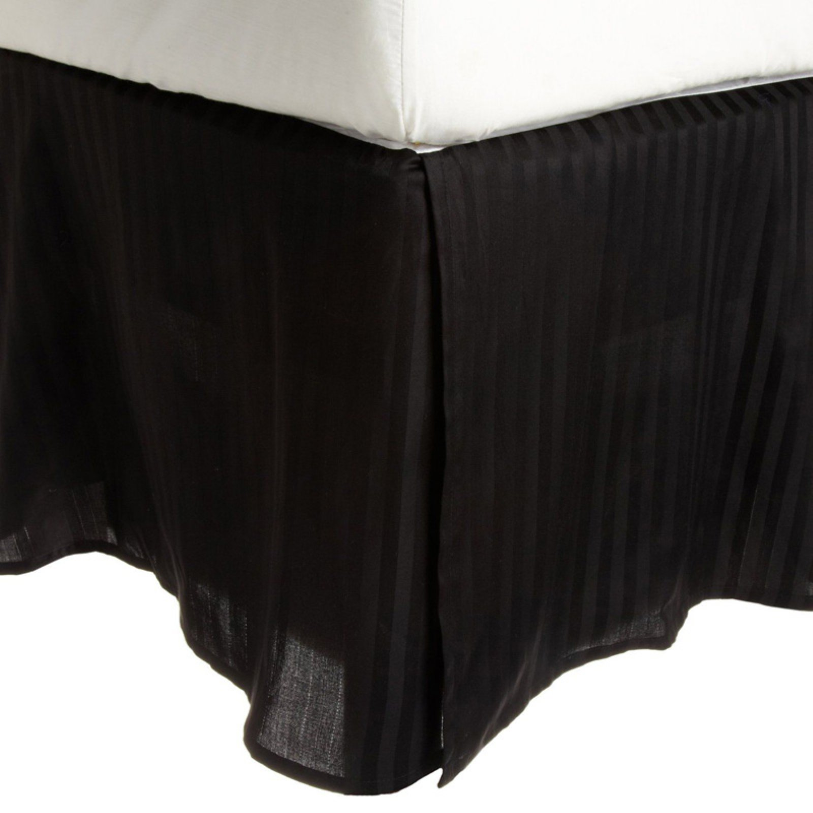 Superior 300 Thread Count Long-Staple Combed Cotton Sateen Weave Stripe Bedskirt