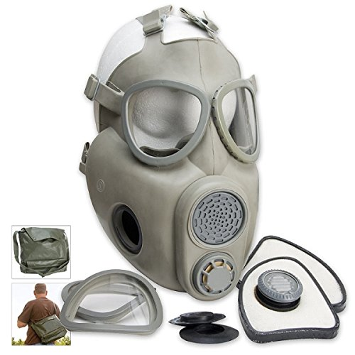 Czech M10 Gas Mask with Carry Bag, Adult size, Adjustable By OEM by