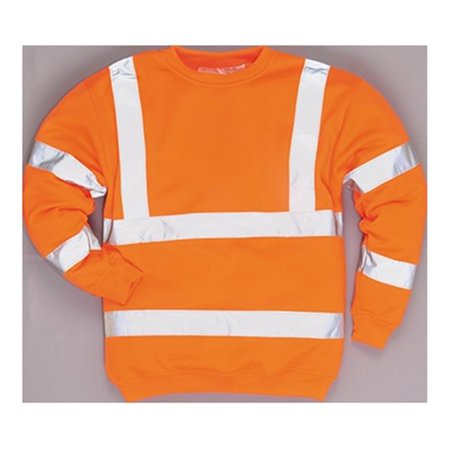 B303 Medium Regular Hi-Visibility Sweatshirt, Orange