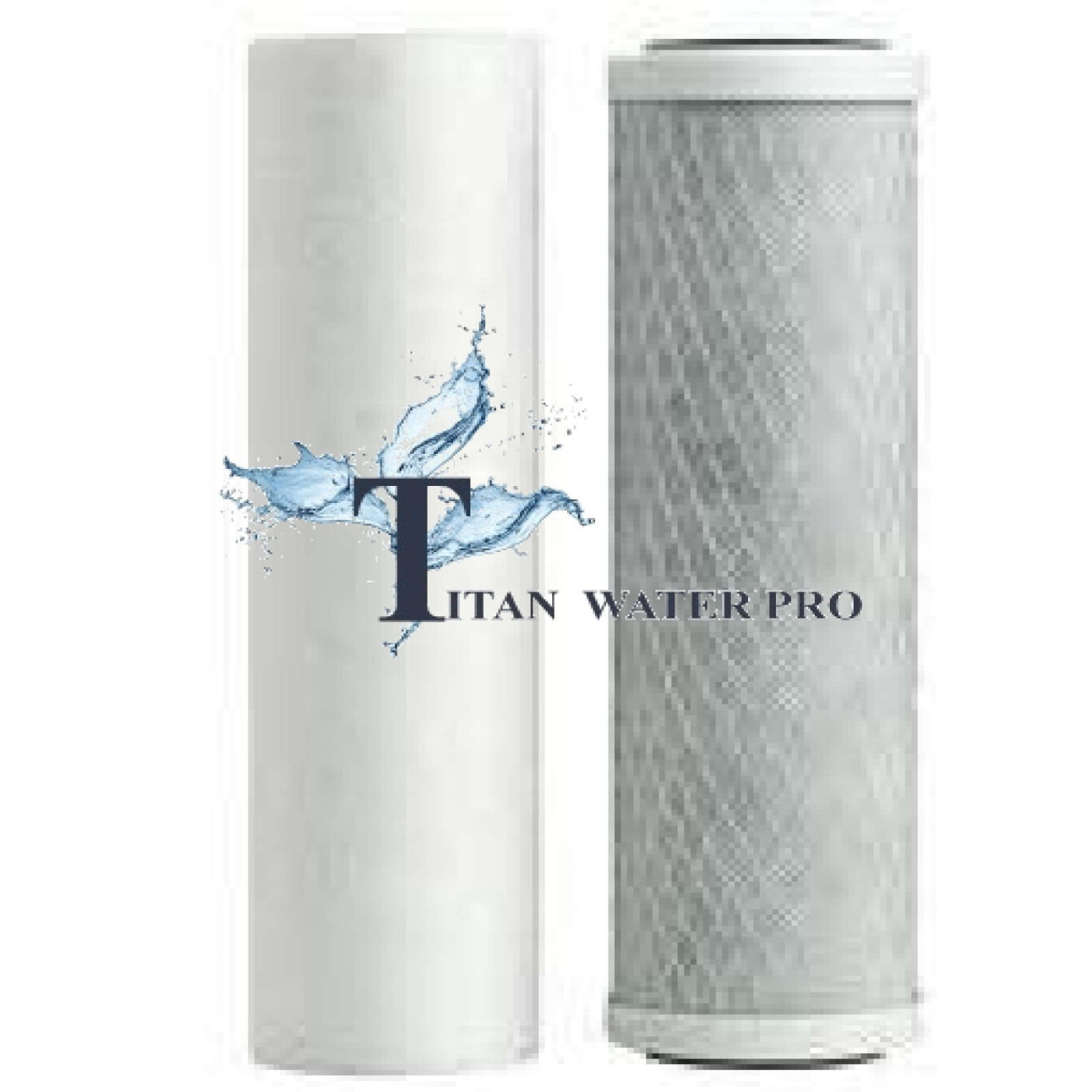 "Water Filters 20""x4.5"" (Big Blue Housings) Sediment & Carbon Block filters - 2pc"