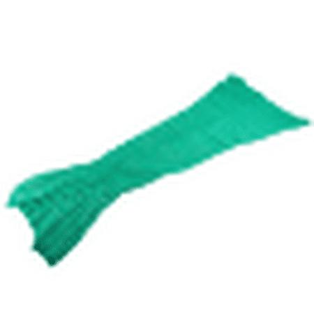 Blanket for Beds Handmade Crochet Mermaid Blanket 180x90cm Green Soft Yarn Knitted Mermaid - Bee Tail