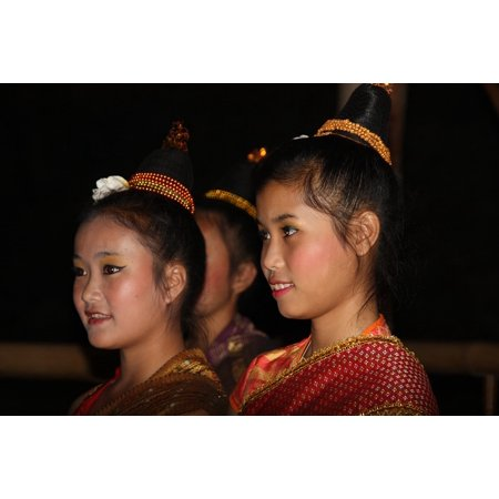 LAMINATED POSTER Beauty Faces Beautiful Girl Asia Laos Costume Poster Print 24 x - Aslan Costume