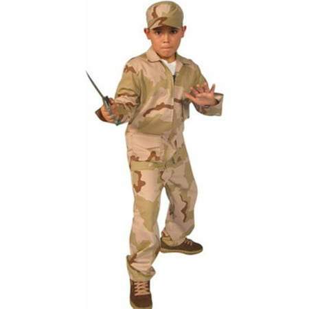 Child's Desert Army Outfit Costume~Small 4-6 / - Desert Costume