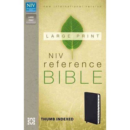 Holy Bible: New International Version Navy Leather-Look, Reference Bible